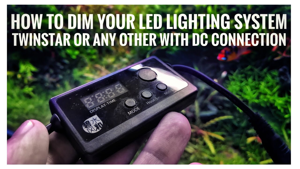 HOW TO DIM TWINSTAR LIGHTS AND ANY OTHER LED WITH 5.5 DC CONNECTOR