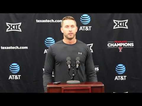 Kliff Kingsbury Talks Texas Tech-OSU Game