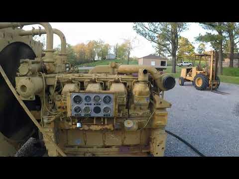 Caterpillar 3508 Big 35 Liter V8 Diesel Engines - Running One With No Muffler