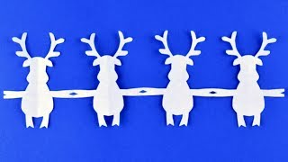 How to make Santa's reindeer (deer) ☃ Garlands of paper ☃ DIY Christmas ideas with their own hands