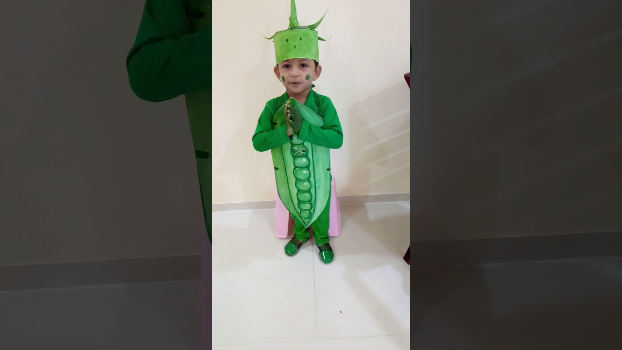 40a92ab06da03 Green peas fancy dress capitation - YouTube