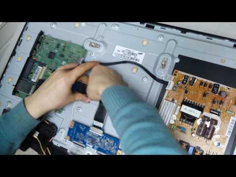 видео: ремонт телевизора samsung ue32f5020, нет изображения(нет подсветки, ремонт led подсветки)