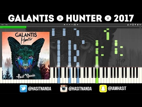 Galantis - Hunter (Piano Tutorial)