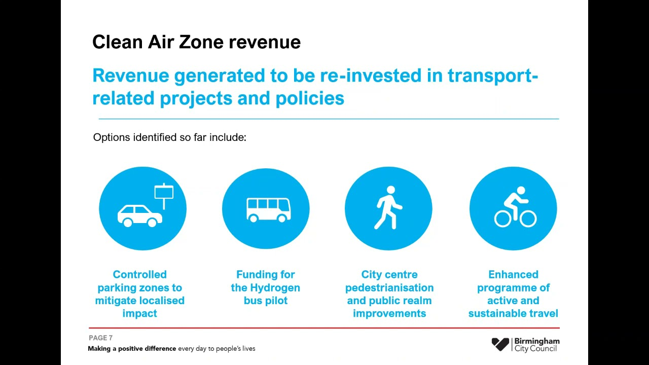 Birmingham Clean Air Zone overview webinar (18 March 2021)