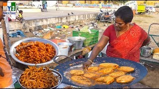 Sea Side Street Food - Fish Fry On Tawa - Street Food
