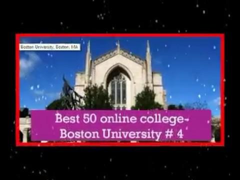 Best 50 online college in usa  Boston University # 4