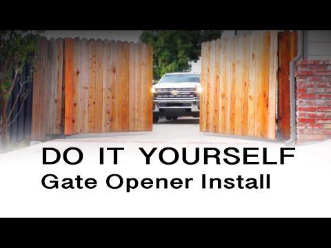 E8 300mm Dual Swing Gate Opener Installation
