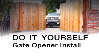 E8 300mm Dual Swing Gate Opener Installation