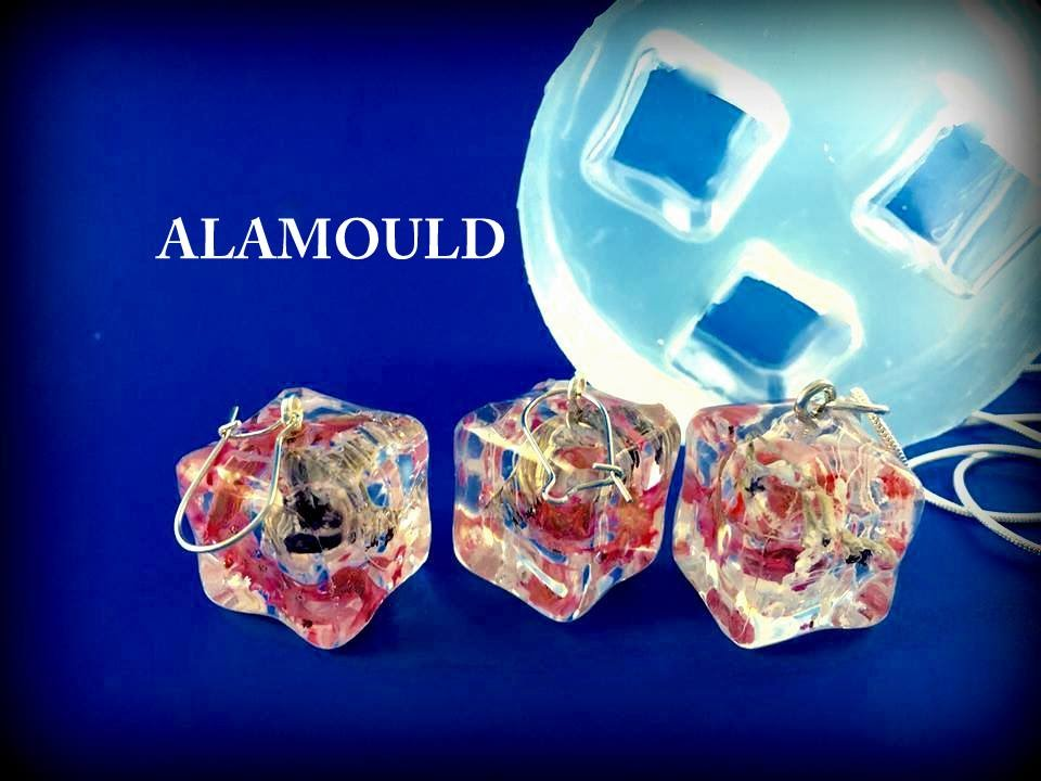 How to create resin earrings pendant using alamould clear how to create resin earrings pendant using alamould clear silicone mold youtube aloadofball Images