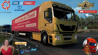 "Euro Truck Simulator 2 (1.39 Beta)   Iveco Stralis Hi-Way 2013 v1.1 by Gaykov Delivery to Bastia Corsica DLC Vive la France by SCS Krone ProfiLiner Ownable Trailer by SCS Animated gates in companies v3.7 [Schumi] Real Company Logo v1.0 [Schumi] Company addon v1.8 [Schumi] Trailers and Cargo Pack by Jazzycat Motorcycle Traffic Pack by Jazzycat FMOD ON and Open Windows Naturalux Graphics and Weather Spring Graphics/Weather v3.6 (1.38) by Grimes Test Gameplay ITA Europe Reskin v1.0 + DLC's & Mods For tuning: - Bumper (plastic, paint) - Side skirts - Mirrors (plastic, paint) - Wings (plastic, paint) - Stickers Truck of The Year 2013 (On the front, on the visor) - Power nameplates depending on the engine. - Salon default (with high quality textures) - Sounds FMOD  For Donation and Support my Channel https://paypal.me/isabellavanelli?loc...  SCS Software News Iberian Peninsula Spain and Portugal Map DLC Planner...2020 https://www.youtube.com/watch?v=NtKeP... Euro Truck Simulator 2 Iveco S-Way 2020 https://www.youtube.com/watch?v=980Xd... Euro Truck Simulator 2 MAN TGX 2020 v0.5 by HBB Store https://www.youtube.com/watch?v=HTd79...  #TruckAtHome #covid19italia Euro Truck Simulator 2    Road to the Black Sea (DLC)    Beyond the Baltic Sea (DLC)   Vive la France (DLC)    Scandinavia (DLC)    Bella Italia (DLC)   Special Transport (DLC)   Cargo Bundle (DLC)   Vive la France (DLC)    Bella Italia (DLC)    Baltic Sea (DLC) Iberia (DLC)   American Truck Simulator New Mexico (DLC) Oregon (DLC) Washington (DLC) Utah (DLC) Idaho (DLC) Colorado (DLC)     I love you my friends Sexy truck driver test and gameplay ITA  Support me please thanks Support me economically at the mail vanelli.isabella@gmail.com  Roadhunter Trailers Heavy Cargo  http://roadhunter-z3d.de.tl/ SCS Software Merchandise E-Shop https://eshop.scssoft.com/  Euro Truck Simulator 2 http://store.steampowered.com/app/227... SCS software blog  http://blog.scssoft.com/  Specifiche hardware del mio PC: Intel I5 6600k 3,5ghz Dissipatore Cooler Master RR-TX3E  32GB DDR4 Memoria Kingston hyperX Fury MSI GeForce GTX 1660 ARMOR OC 6GB GDDR5 Asus Maximus VIII Ranger Gaming Cooler master Gx750 SanDisk SSD PLUS 240GB  HDD WD Blue 3.5"" 64mb SATA III 1TB Corsair Mid Tower Atx Carbide Spec-03 Xbox 360 Controller Windows 10 pro 64bit"