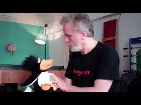 Handpuppe Pinguin Erwin W662 und Onkel Fips