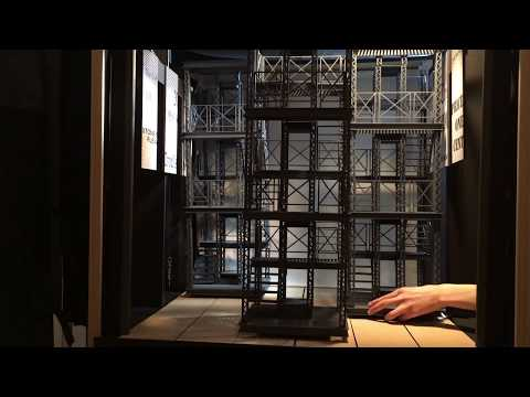 Newsies Musical Stage Set Model. Complete set up time lapse video