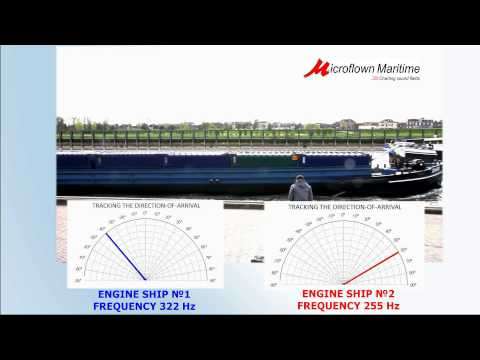 Ships engine tracking using Hydroflown - Microflown Maritime