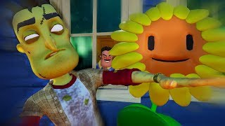 HELLO ZOMBIES - Hello Neighbor Plants vs Zombies Mod