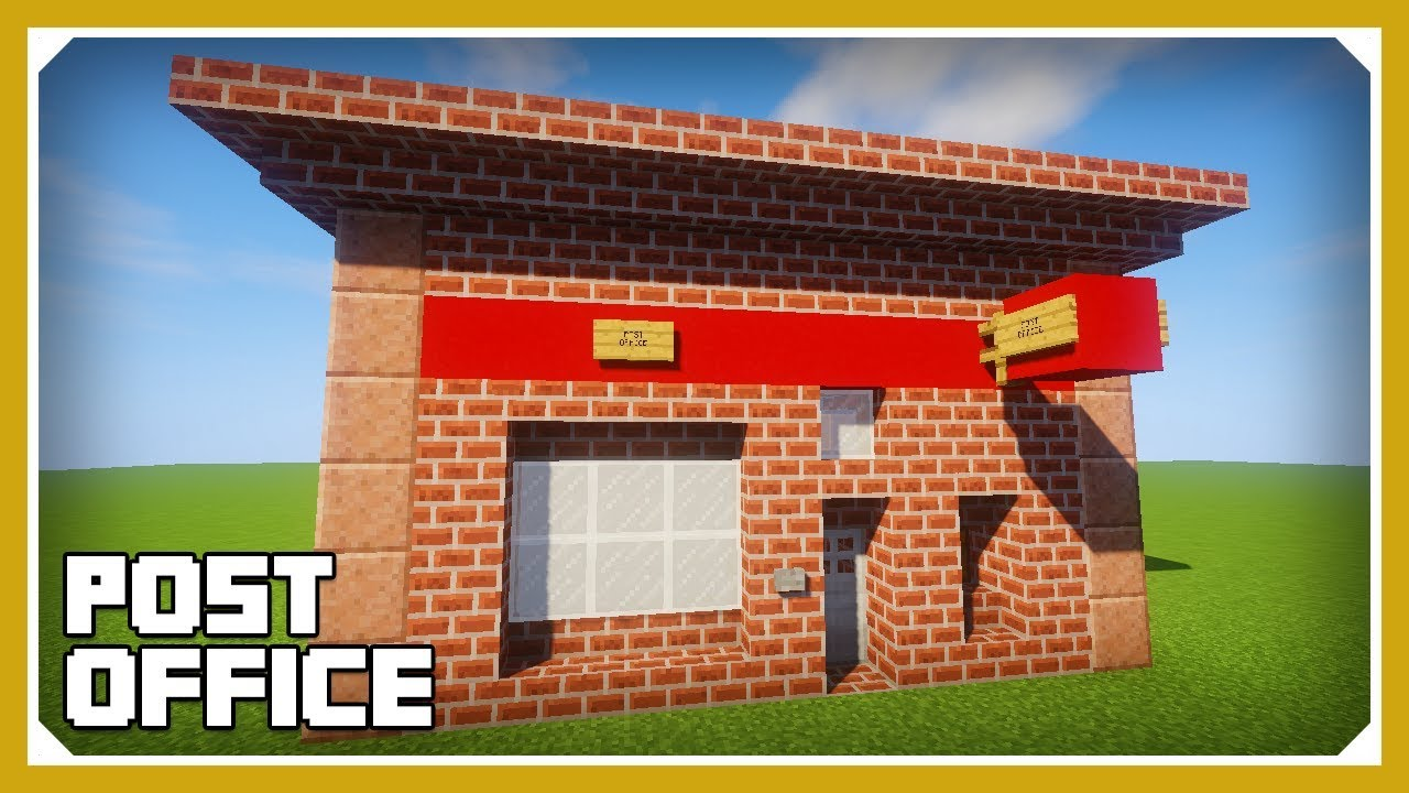 Minecraft how to build a post office tutorial easy survival minecraft design youtube - Post office working today ...