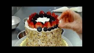 Украшение тортов | Как сделать летний торт из арбуза и украсить его фруктами