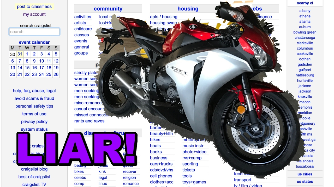craigslist gadsden motorcycles | Amatmotor.co