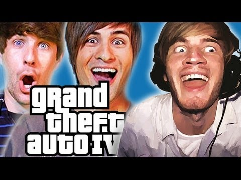 Thumbnail: THE ANIMALS ARE LOOSE! - Smosh & Pewds Plays: GTAIV
