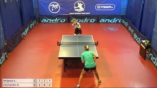 Настольный теннис матч 220918 8  Долгая Лилиана  Литвиненко Елена