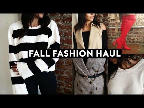 FALL CLOTHING TRY ON HAUL 2017! AUTUMN FASHION TRENDS & ESSENTIALS (ZARA)