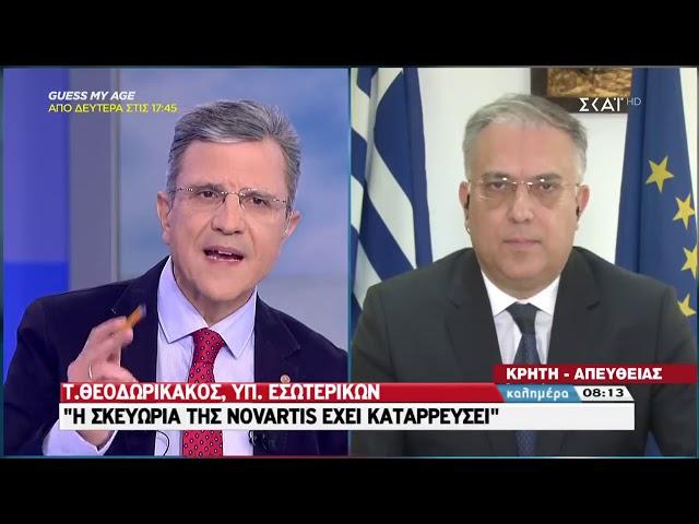 Συνέντευξη - Ο ΥΠΕΣ Τάκης Θεοδωρικάκος στην εκπομπή