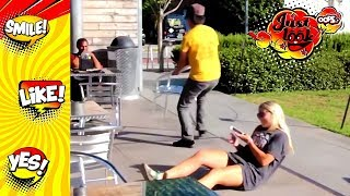 Chair pulling prank Compilation videos funny |  videos funny