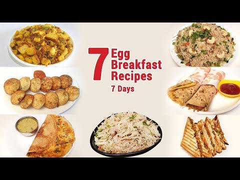 7 Breakfast recipes with eggs | Easy Breakfast Recipes | Indian Breakfast Recipes | Egg Recipes