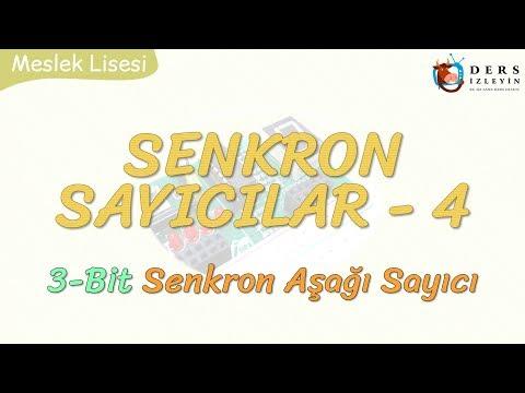 SENKRON SAYICILAR - 4 / 3 BİT SENKRON AŞAĞI SAYICI