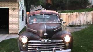 1947 Ford flathead V8 1st run after sitting 31 years