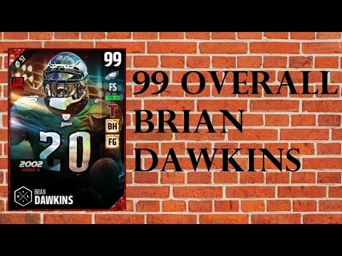 How Good is Boss 99 Overall Brian Dawkins? - MUT 17 Player Review