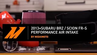 2013 brz scion fr s performance air intake installation guide by mishimoto