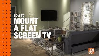 How To Mount A Flat Screen Tv On A Wall The Home Depot