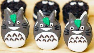 Totoro Macaroon Cookies - Nerdy Nummies