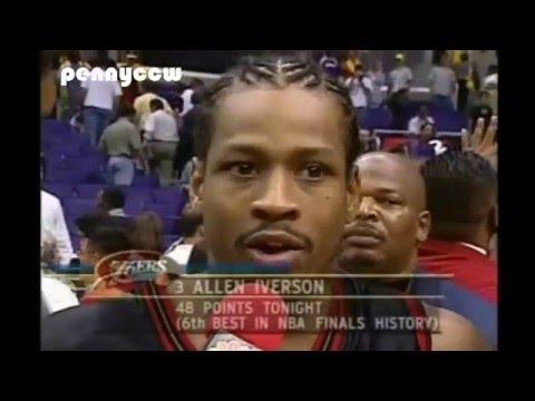 nba-greatest-game:-allen-iverson-vs-shaq-&-kobe-the-lakers-*nba-final-game-1