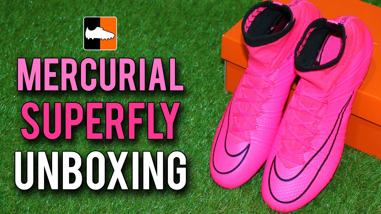 sports shoes b33c0 b3d26 Nike Mercurial Superfly IV SG Unboxing - Lightning Storm Pink Black Edition  - YouTube