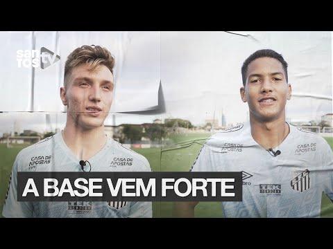 BRAYAN E ÂNGELO SÃO INTEGRADOS AO ELENCO PROFISSIONAL DO #SANTOS FC