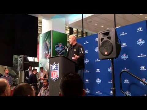 Gus Bradley Jacksonville Jaguars Head Coach on Blake Bortles, Running Game #NFLDraft #NFLCombine