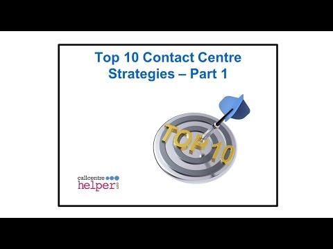 Webinar replay  Top 10 Contact Centre Strategies   Part 1
