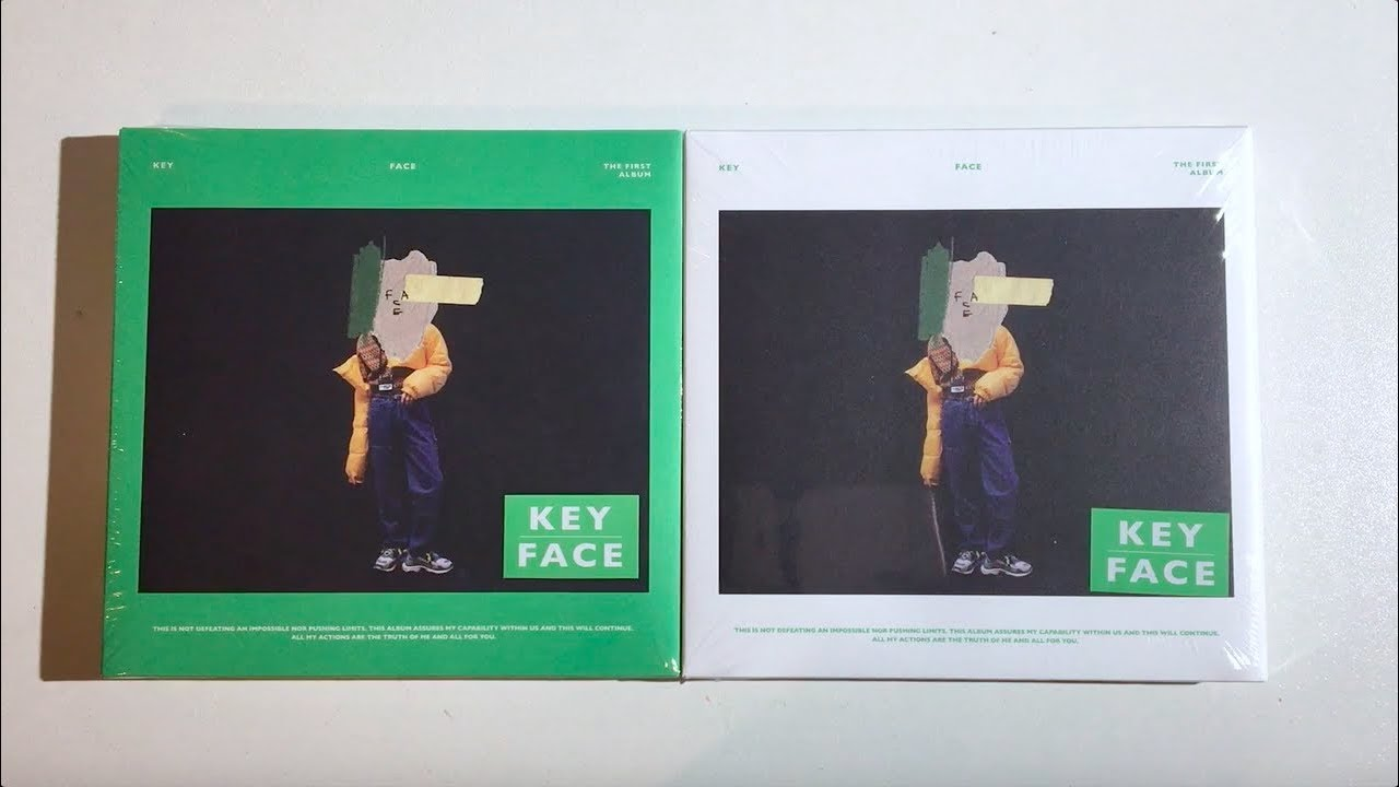 ♡Unboxing Key 키 1st Studio Album FACE 페이스 (Green & White Ver )♡