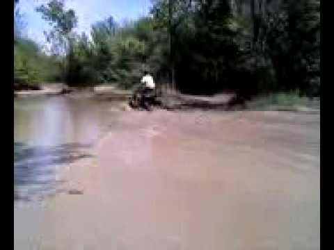 perry lake ks pond verse  125 cc atv