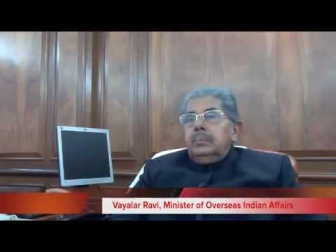 PBD 2012, Vayalar Ravi, Minister of Overseas Indian Affairs