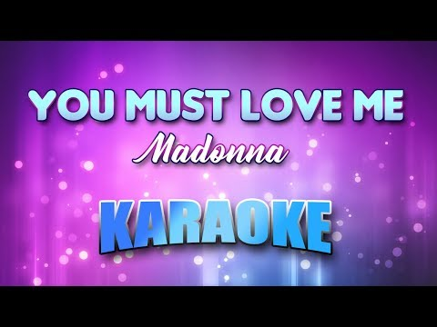 Madonna - You Must Love Me (Karaoke & Lyrics)