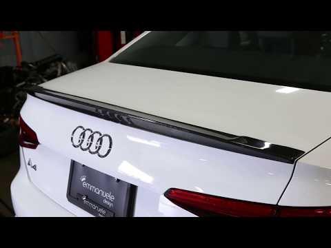 Carbon Fiber Rear Trunk Spoiler Wing Factory Refit For Audi A4//A4 Sline S4 2017