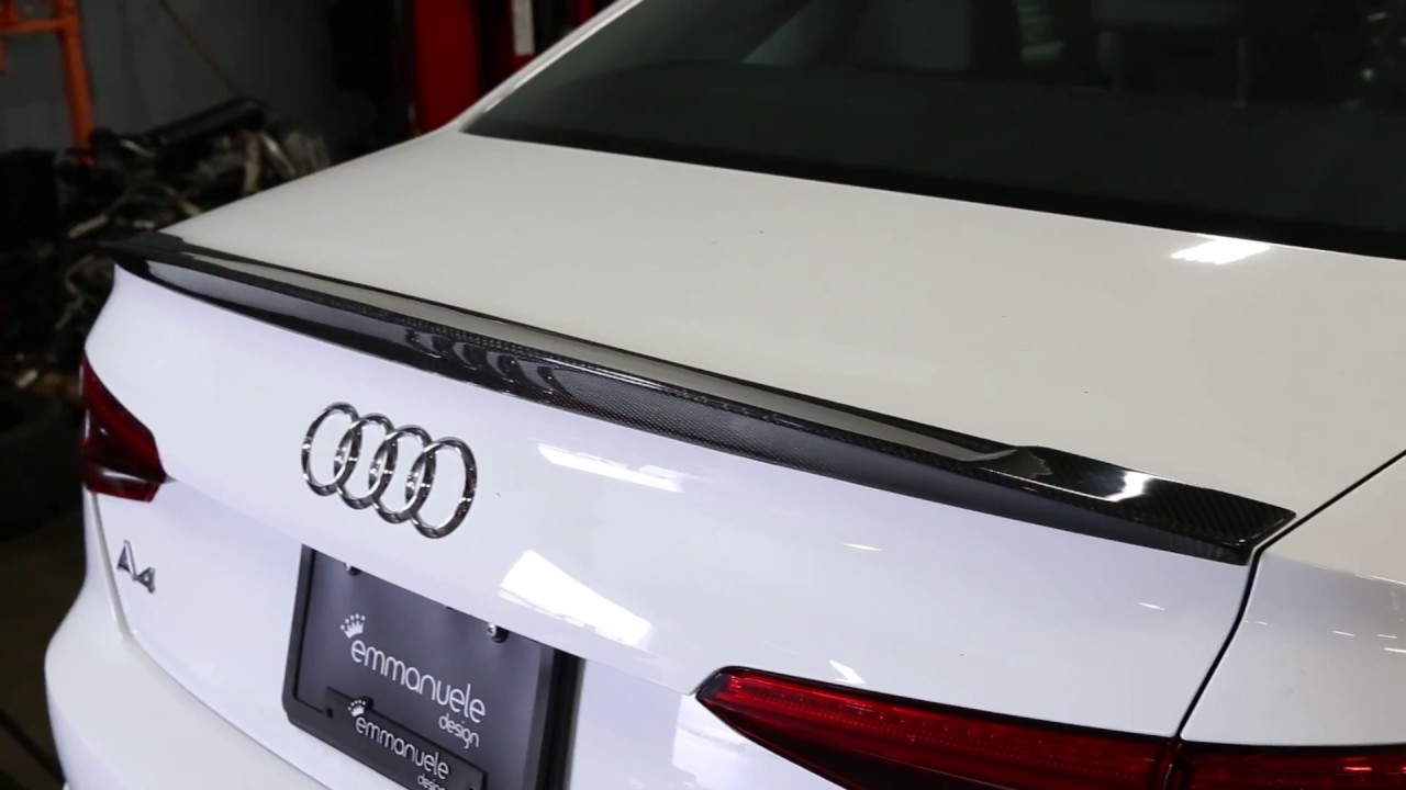 Pure Carbon Audi B9 A4s4 Trunk Spoiler Installation Youtube