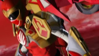 Power Rangers Ninja Storm - Red Ranger Battlizer Morph and Fight | Shane's Karma Episode thumbnail