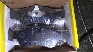 Замена передних тормозных колодок Opel Vectra