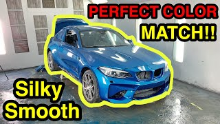 Rebuilding The CHEAPEST salvage auction BMW M2 IN THE WORLD! Part 10 PAINTING!!