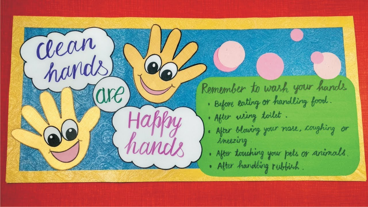 Cleanliness craft l good manners craft l poster on good habits l Swachh  Bharat Abhiyan