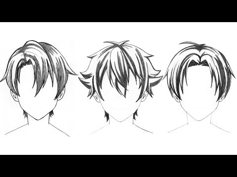 3 Hairstyle To Draw Anime Hair Boy - How To Drawing Anime Tutorial