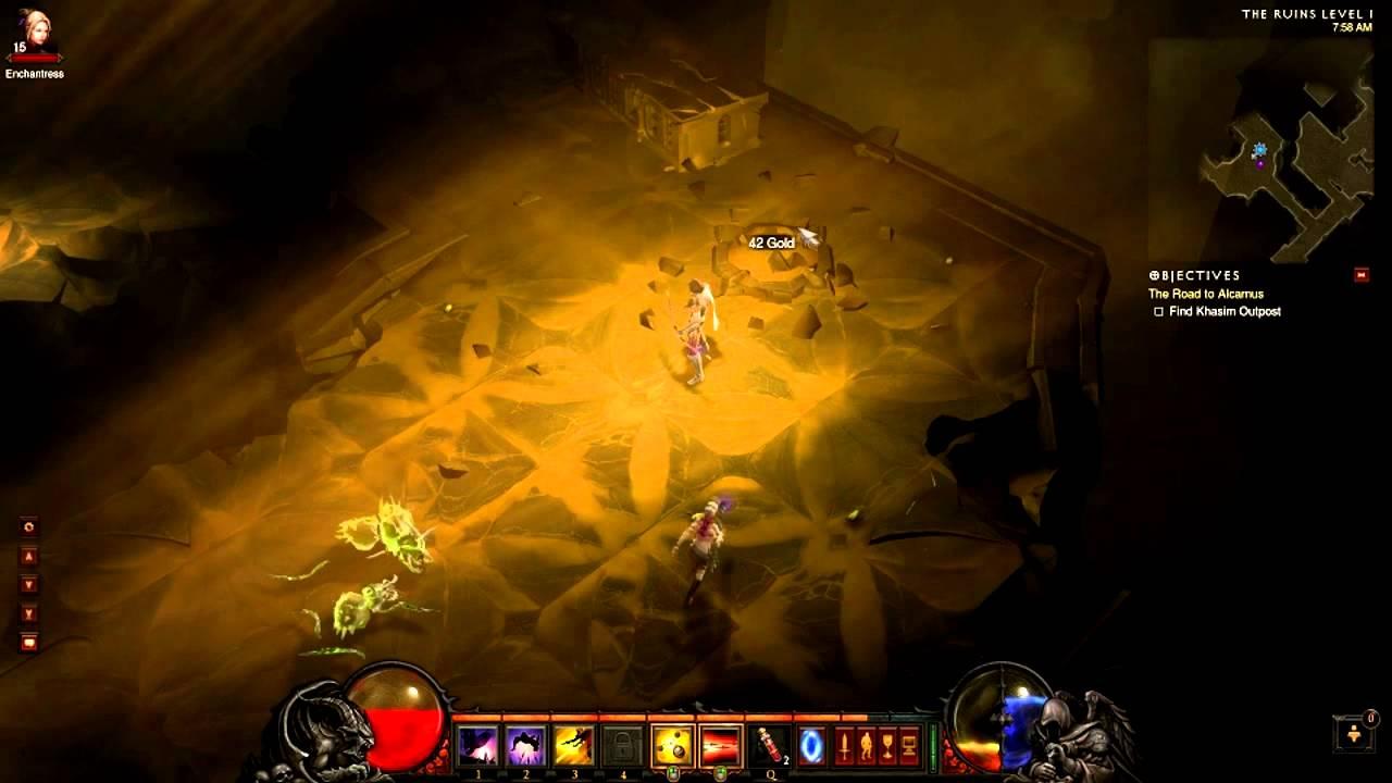 Diablo 3 Demon Hunter Gameplay Commentary Part 2 - YouTube